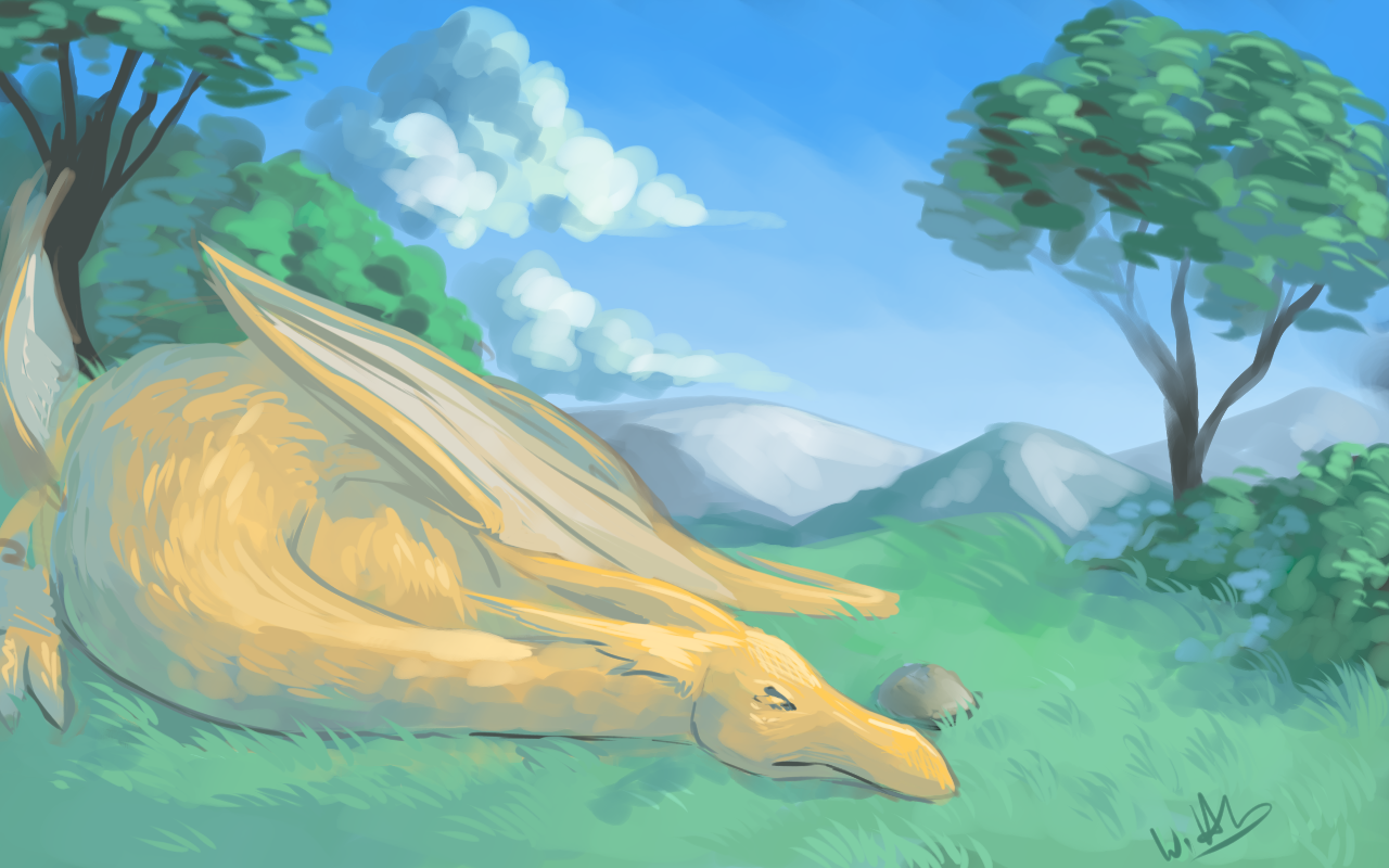 sleepy dragon.